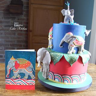 Elephants - Cake by CreativeCakeKitchen