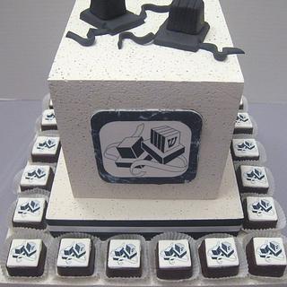 Bar Mitzvah Centerpiece - Cake by Cheryl