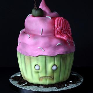 Giant Zombie Cupcake