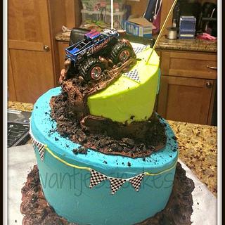 Monster truck birthday cake - Cake by Jessica Chase Avila