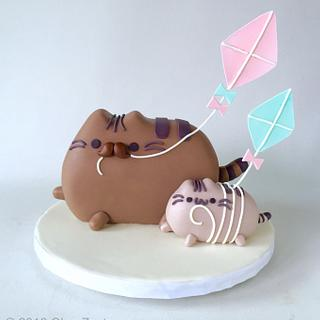 Father's Day Pusheen Cat Cake
