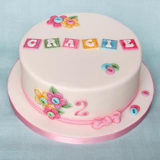 Applique Birthday Cake - Cake by Pam