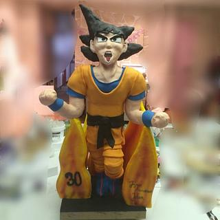 Giant Dragon ball cake
