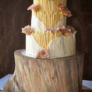 Earthy Rustic Wedding Cake
