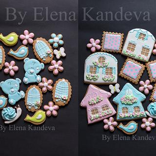 Spring Cookies with Icing