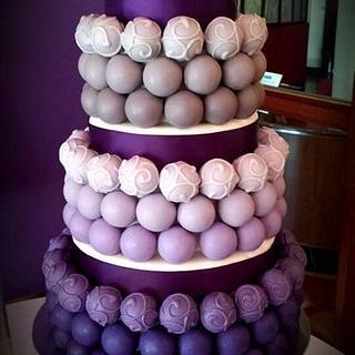 Purple and Gray Cake Bite Wedding