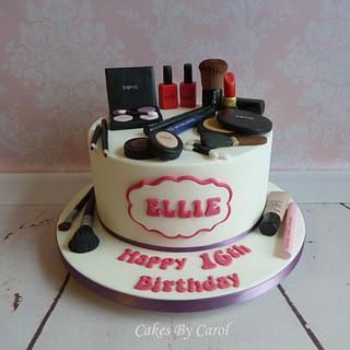 16th Make-up Cake