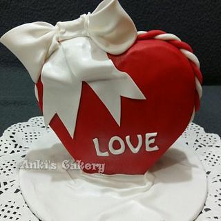 Red love - Cake by Ankita