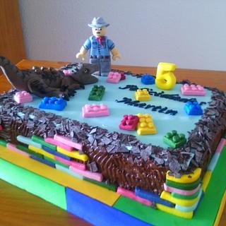 LEGO  JURASSIC PARK CAKE