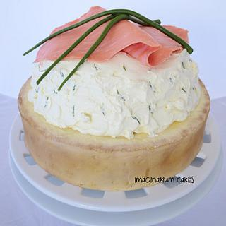 Salmon and Dill Canape with Chives - Cake by Imaginarium Cakes