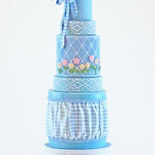 Gingham Spring Cake - Cake by Ever After