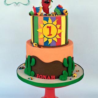 Fiesta!!!!  - Cake by Lori Mahoney (Lori's Custom Cakes)