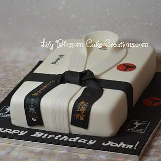 Karate Cake - Cake by Lily Blossom Cake Creations