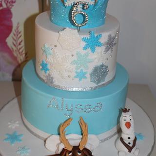 princess frozen cake - Cake by jodie baker