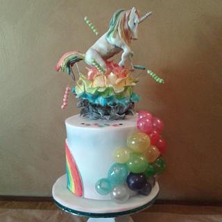 rainbows and unicorn