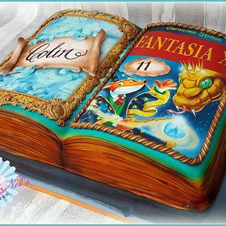 Geronimo Stilton fantasia book cake