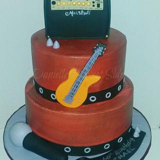 Rocking It Out 60th Birthday Cake