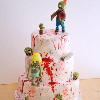 Zombie blood birthday cake by Mericakes