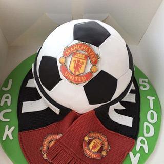 Man united football cake - Cake by joe duff