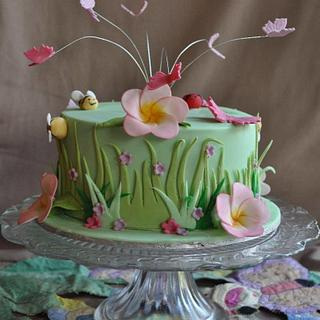 Butterflies and bugs - Cake by Victoria Forward