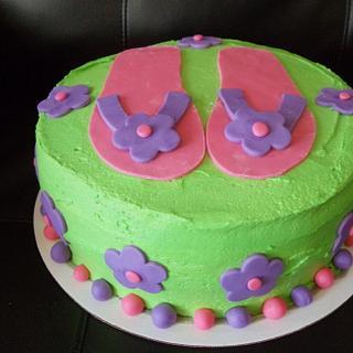 Flip flop Cake - Cake by Tamara Bemiss