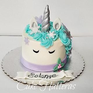 Winter Unicorn - Cake by Donna Tokazowski- Cake Hatteras, Hatteras N.C.