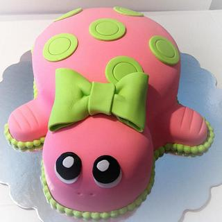 Pink Turtle  - Cake by Amy