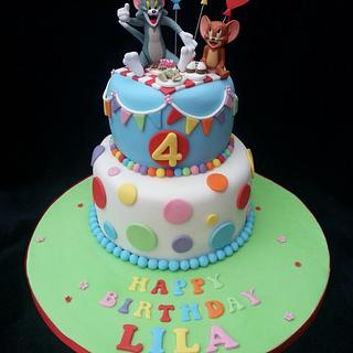 Tom and Jerry themed birthday cake - Cake by Mrsmurraycakes