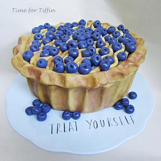 Blueberry pie cake