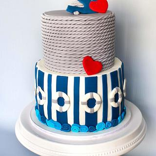 Baby Anchor  - Cake by Anchored in Cake