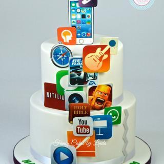 iPhone App Birthday Cake - Cake by Ceri Badham