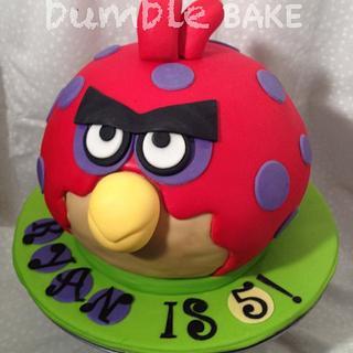 Angry Bird Cake - Cake by BumbleBake