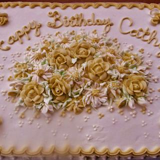 Buttercream ivory, cream, and white floral spray