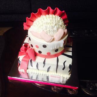 Tutu baby bottom cake