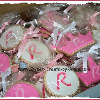 Princess Baby Shower cookie favors