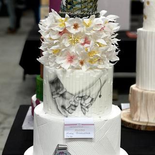 2nd place of wedding cake on Cake Festiwal Poland 😍