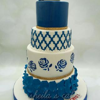 Royal blue engagement