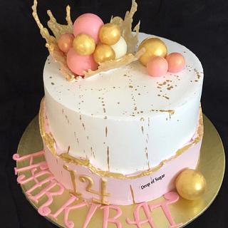 Whipped Cream Faultline Cake