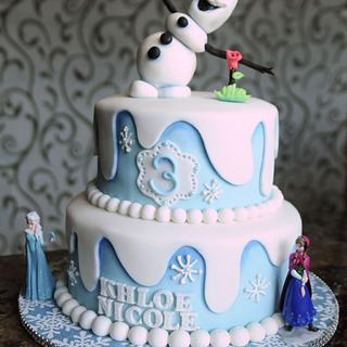 Frozen Theme Cake - Cake by Kara's Custom Design Cakes
