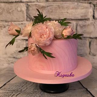 Peonies - Cake by Ksyusha