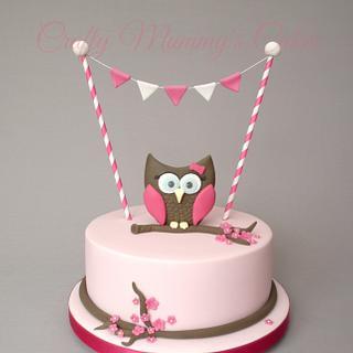 Owl baby shower - Cake by CraftyMummysCakes (Tracy-Anne)