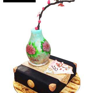 Vintage Chinese Vase Cake