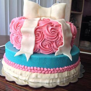 vintage/glam butter cream birthday cake - Cake by Samantha Corey