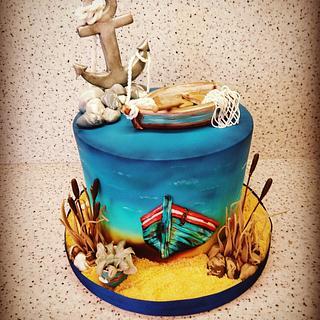 Sea cake - Cake by Alena Boháčová - Dorty Sen