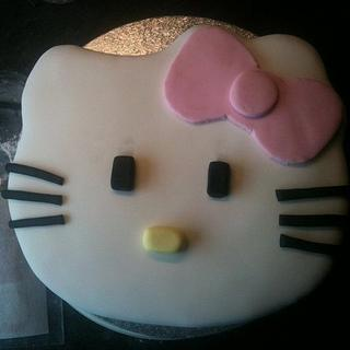 Hello Kitty Face Cake - Cake by 1897claire