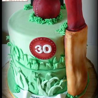 Not Out! Cricket Cake