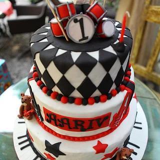 1st Birthday Rockstar theme