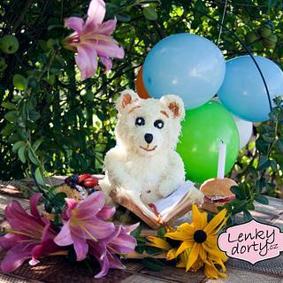 Salty cake teddy bear