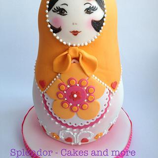 Babushka Nesting Doll Cake - Cake by Ellen Redmond@Splendor Cakes