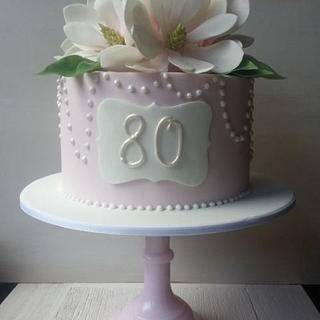 Outstanding 80Th Birthday Cake 194 Cakes Cakesdecor Funny Birthday Cards Online Alyptdamsfinfo